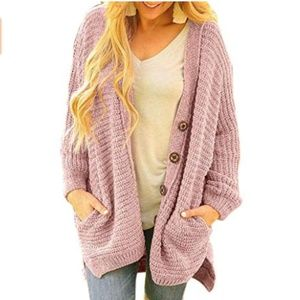 Sweaters - Oversized Comfy Cardigan